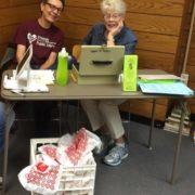 Jan & Nancy volunteering at book sale