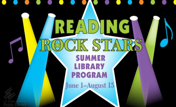 Reading Rock Stars, Summer Library Program, June 1-August 15.