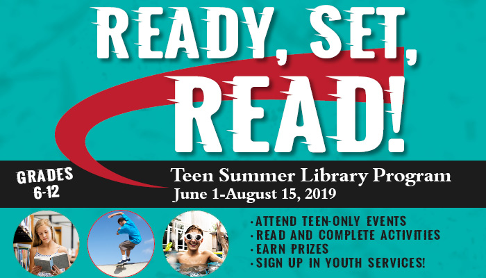 Three small circular photos featuring teens: a girl is reading, a boy is skateboarding, and a boy is swimming.