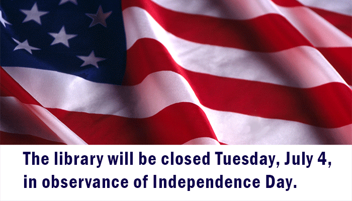 Library closed July 4