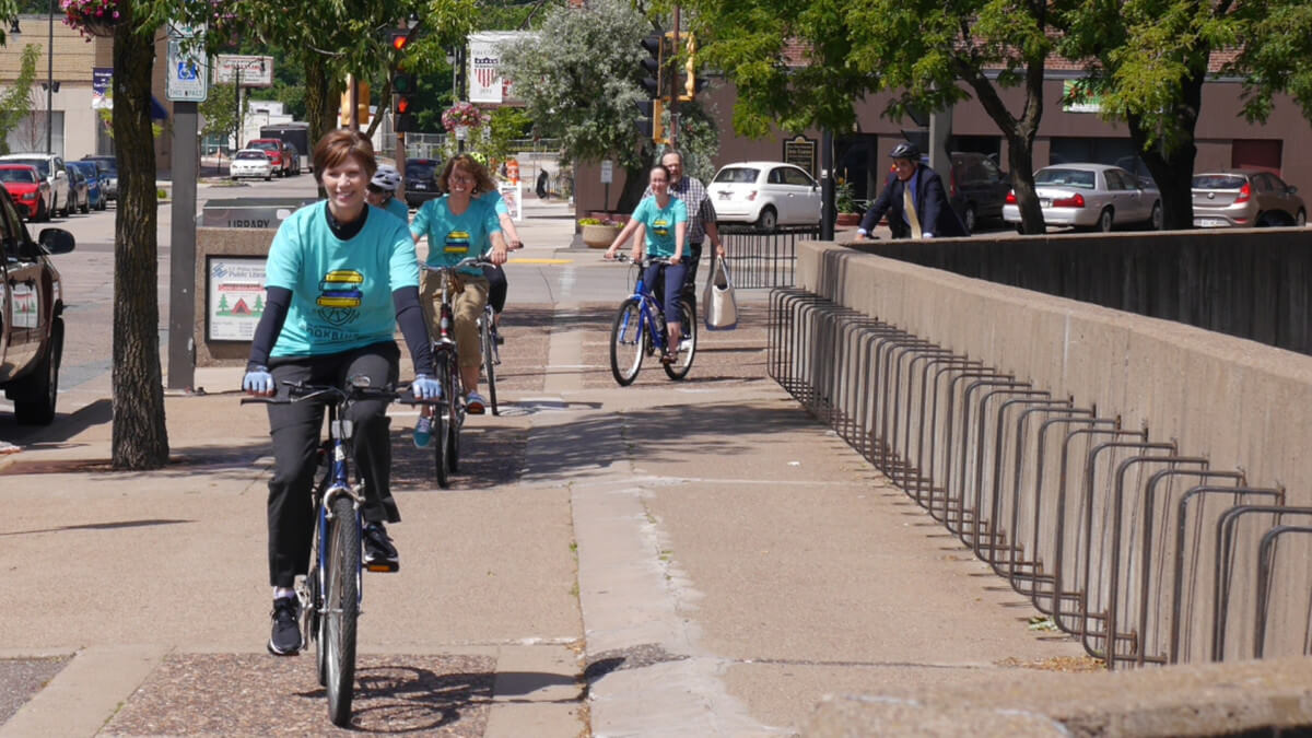 Library Director, Pamela Westby, Leads the Riders