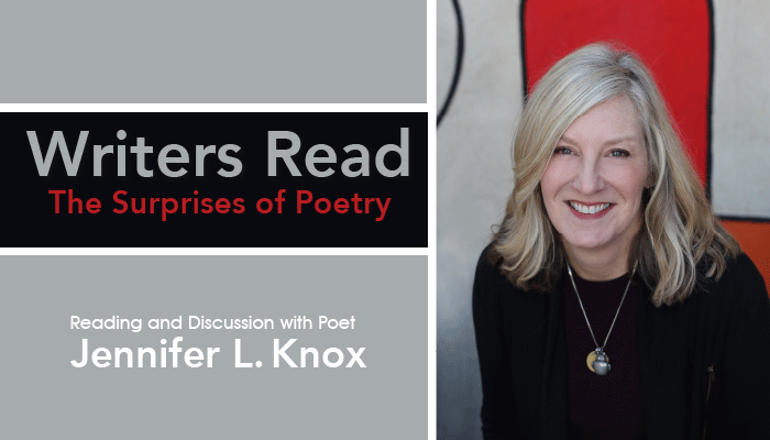 Reading and discussion with poet Jennifer L. Knox
