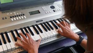 Yamaha keyboard.