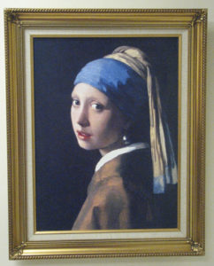 Girl With a Pearl Earring art print.