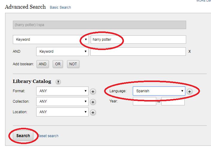 Screenshot of how to change settings