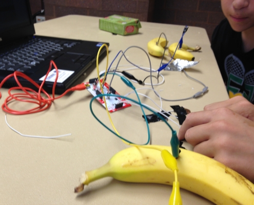 Makey Makey circuit assembly