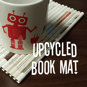 Upcycled Book Mat