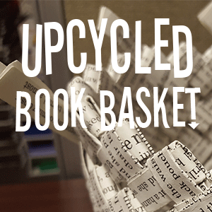 Upcycled Book Basket