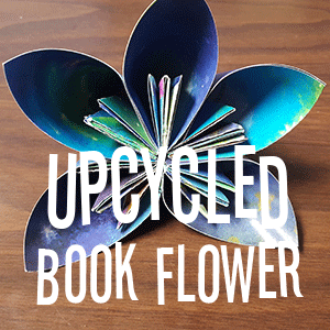 Upcycled Book Flower