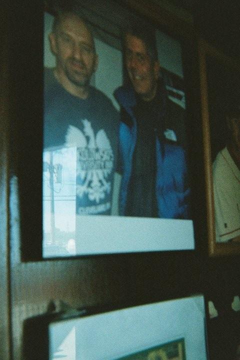 Bourdain with Sokowloski's owner