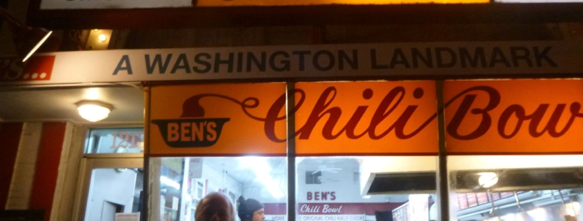 Peter in front of Ben's Chili Bowl