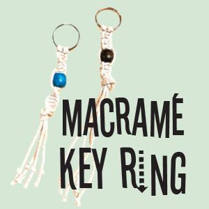 Macrame Key Ring