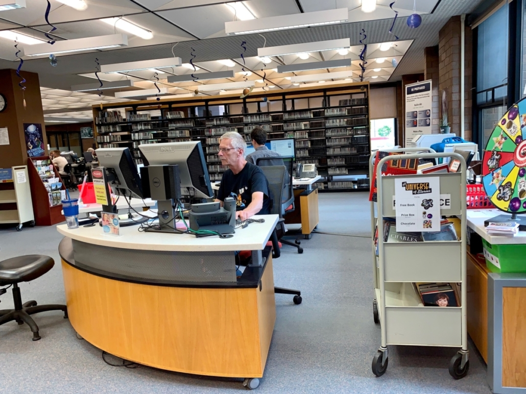 New Reference Desk on the second floor.