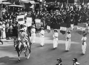 Photograph of Women's Suffrage March.