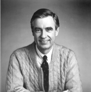 B&W Photo of Fred Rogers