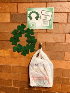 Shamrock Wreath project in Park and Pickup