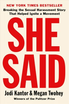 Jacket cover of the book She Said
