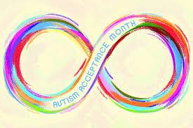 Banner Reads Autism Acceptance Month