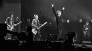 The Rolling Stones performing in Hyde Park